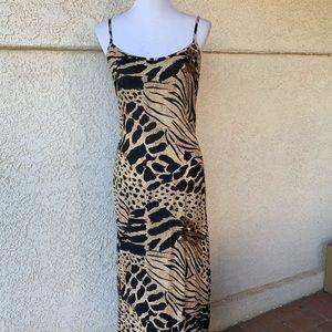 ⭐️HPick⭐️ Mamta Cheetah Print Maxi Dress w/Fringe